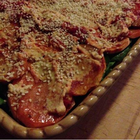 lasagna close
